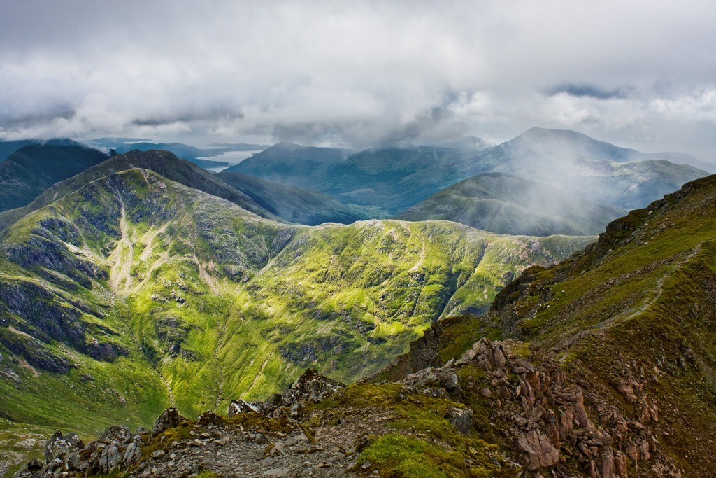 View of the mountains over Glencoe